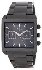 Armani Exchange Men's Black Square Stainless Steel Watch AX2222 $220 NIB