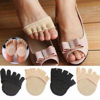Women Invisible Socks Non-Slip Five Fingers Half Toe Socks Stress Relief Pain