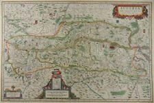 ÖSTERREICH AUSTRIA WIEN DONAU KOL. KUPFERSTICH KARTE BLAEU 1640 MAP K94