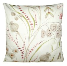 Sanderson Summer Harvest Claret & Olive Cushion Cover