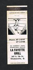 Rare Wrestling matchcover Ed Gardenia Faieta wrestler matchbook Steubenville Oh