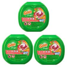 Gain flings Laundry Detergent Pacs Tropical Sunrise 42 count Regular Washer 3 PK