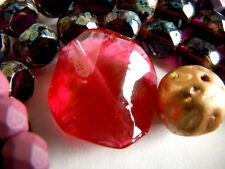 Herrliche Twisted facetted Fuchsia Red Murano-Perlen -21mm- diagonal -
