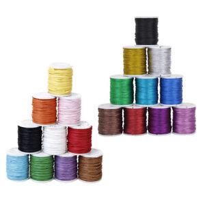 10 Metallic Macrame Beading Jewelry String Thread 0.5mm+10 Waxed Cotton Cord 1mm