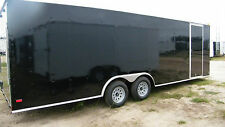 8.5x24 Enclosed Trailer 10,4000 LB Cargo V Nose 26 Utility Motorcycle 8 22 2017