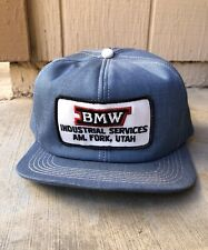 Vintage K Products BMW Industrial Services Utah Patch Snapback Hat USA