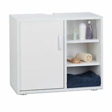 Waschbeckenunterschrank weiß Badschrank WC Unterstellschrank Badezimmer eintürig