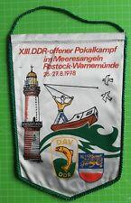 DAV Angelverband Rostock Warnemünde Pokalkampf 1978 DDR Wimpel