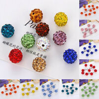6-12MM  Czech Crystal Rhinestones Pave Clay Round Disco Ball Spacer Beads