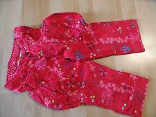 CAKEWALK wunderschöne Stiefelhose rot im Blumenmuster Gr. 116 Wi 09 NEU ST116