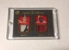 2008 Upper Deck Premier Combos Carlton Fisk/Vladimir Guerrero jersey patches