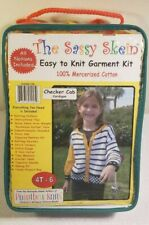 """NEW The Sassy Skein """"Checker Cab - Cardigan"""" Easy to Knit Garment Kit. 4T-6"""
