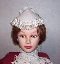 Ladies Civil War//Victorian//SASS Ladies Dress Hat Olive and Off-white