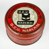 Blechdose S.E.V Marchal Rechanges pour Pompes Type 46 Vintage 40er 50er