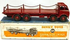 DINKY NO. 505 FODEN FLAT TRUCK WITH CHAINS - RARE MAROON ($20,000)A/MINT & BOXED