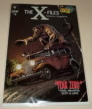 The X FILES : YEAR ZERO # 3 IDW Comic Sept 2014 NM VARIANT COVER EDITION