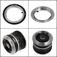 Fotodiox Lens Mount Adapter Nikon Nikkor F D/SLR To Canon EOS EF EF-S SLR Camera