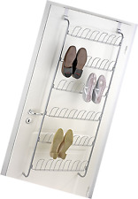 Türregal für Schuhe - für 18 Paar, verchromtes Metall, Silber gl&