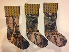 """Camouflage Sq.Design Knit Cuff 3-Christmas Stockings Mission Gallery 20.5"""""""