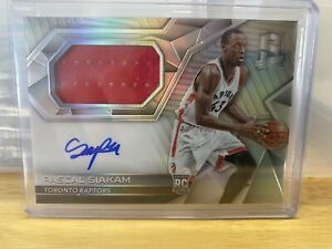 2016-17 Pascal Siakam Rookie Card RPA Patch Auto Spectra Silver Holo Prizm #/300