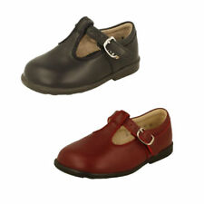 Leather Upper Shoes for Boys with Buckle Narrow