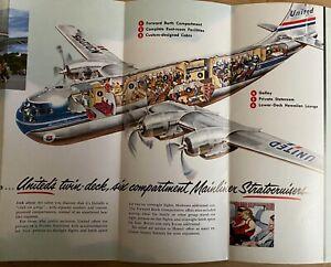 AIRLINE - UNITED 1952 Statocruiser Cutaway Brochure