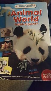 LeapPad Learning System Baby Little Touch Library Animal World Ages 6-36 months
