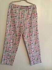 Jane & Bleecker Women Flannel Pajama Lounge Pants Large Knitting Stuff Printed