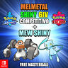 Melmetal and Mew Pokémon Sword and Shield- ✨Ultra Shiny ✨ 6iv Fast Delivery
