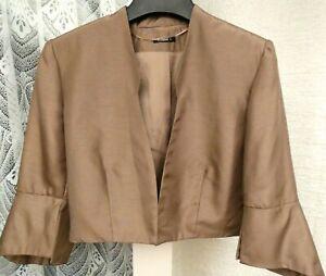 ( Ref 6311 ) Roman - Size 12 - Ladies Brown Short Sleeve Formal Jacket Wedding