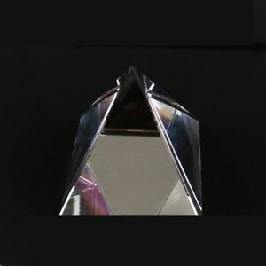 Pyramid Prism K9 Optical Crystal Glass Irregular Shape for Decoration Studying