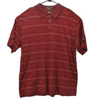 Tiger Woods Collection Men's 2XL Nike Fit Dry Short Sleeve Polo Golf Shirt Red