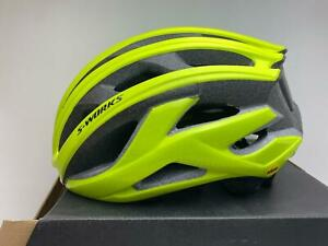 new Specialized S-Works Prevail II MIPS ANGI bicycle helmet HYPER GREEN Large