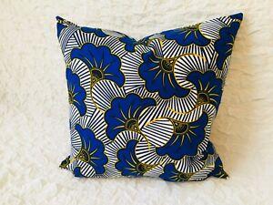 Handmade Cushion Cover | African Print | Ankara | Zip Fastening | NEW