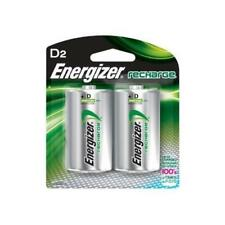 Energizer Rechargeable D Cell Batteries, NiMH D Battery (2 Count) NH95BP-2 New