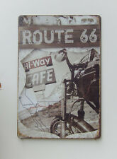 ROUTE 66 CAFE TIN / METAL SIGN FOR BAR MANCAVE OUTDOOR INDOOR WEATHER PROOF