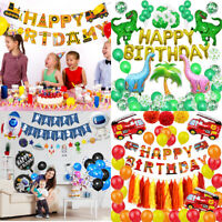 Cool Birthday Theme Set Party Decorations Paper Foil Supplies Balloons for Boys
