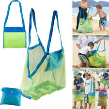 Portable Anti Sand Kids Toys Mesh Beach Pouch Tote Handbag Storage Organizer Bag