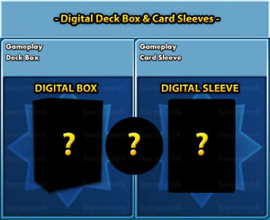 (Digital Item) Deck Boxes and Card Sleeves Pokemon PTCGO Sent In-Game Fast