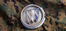 1965 65 Buick Wildcat Fuel Filler Door Gas Door Emblem & Hinge gm oem