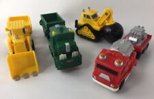 Fisher-Price GeoTrax Lot Of Accessory Vehicles Construction Fire Train Trucks
