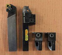 4 Piece Sandvik Coromant Indexable Turning Tools Set