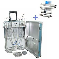 Dental Portable Turbine Unit Air Compressor 4H + Push Button Handpieces Kit 4H