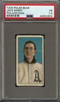 Rare 1909-11 T206 Jack Barry Polar Bear Back Philadelphia PSA 1.5 Low Population