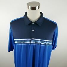 Adidas Golf Mens Polyester SS Two Tone Blue Activewear Polo Shirt Size XL