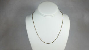14k White Gold Snake Chain Necklace - Milor - 18.5 Inches