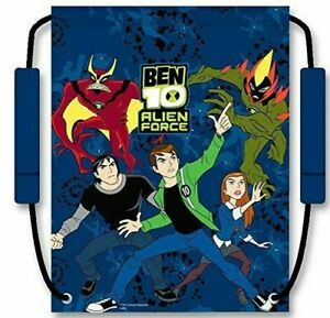 Official Ben 10 Boys Drawstring Trainers Pumps Pe Backpack Gym School Bag Zeon