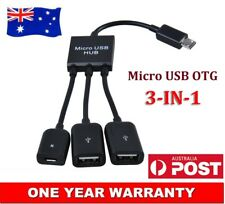 New 2in1 Micro USB OTG Dual Hosting Adapter Cable For Raspberry Pi Zero AU Stock
