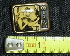1950S Buster Crabbe MOVIE FLASH GORDON RARE BRONZE TV STYLE PIN NICE COND!!WH2 M