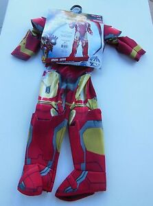 Marvel Avengers Iron Man Halloween Costume - Toddler Size 2-3 Years - NEW!